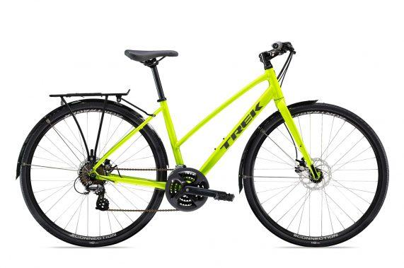 Xe đạp thể thao thành phố Trek FX 1 Stagger Disc 2020 fitness bike - Neon Green