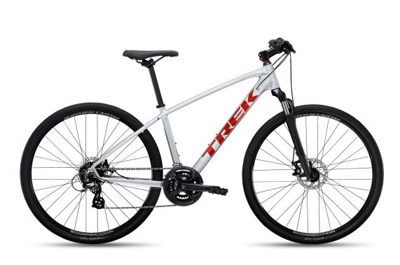 Xe đạp thể thao đa dụng Trek Dual Sport 1 2022 hybrid bike - silver