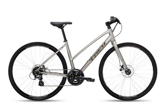 Xe đạp thể thao thành phố Trek FX 1 Stagger Disc 2022 fitness bike - Silver
