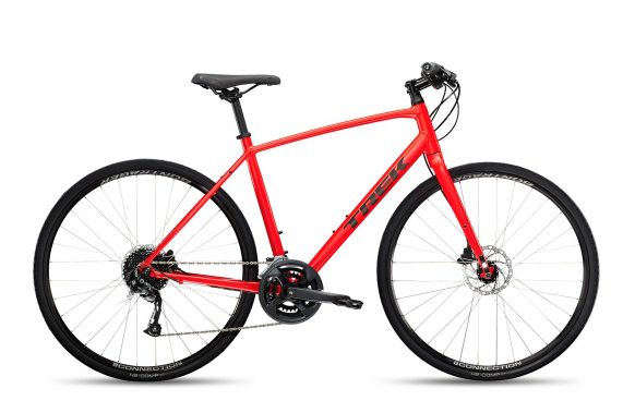 Xe đạp thể thao thành phố Trek FX 2 Disc 2022 fitness bike - red